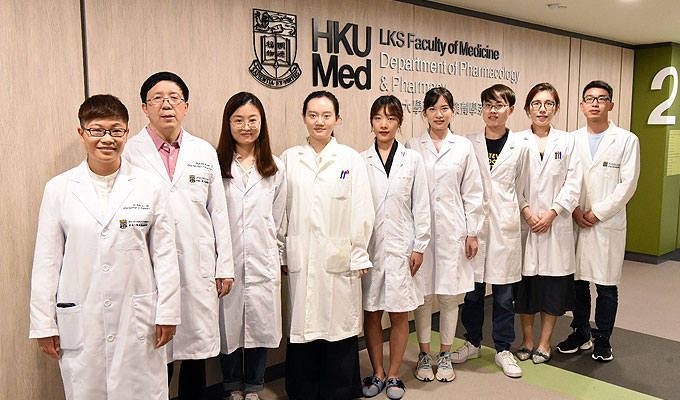 Photo, Dr. Ruby Hoo and her team discovers a novel therapeutic target of ischaemia stroke